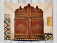 Typical Of Moroccan Architecture Wall Hanging Tapestry Smooth Supple Multi-size