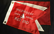 3 Sailing Regatta Flags Childs Room Man Cave Deck Nautical Decor Red White