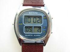 Bayard blue dial vintage ESA 934.912 alarm LCD Swiss men's watch