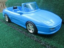Collectible Barbie Car Blue Sporty Car Dated 1998 Missing Steering Wheel VGC