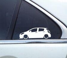 2X Lowered car silhouette stickers - for Toyota Yaris / Vitz 3rd gen (5-door)