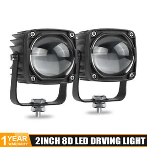 2X Yellow White Dual Color LED Work Light Bar Pods Driving Fog Lamp Offroad SUV
