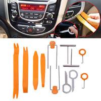 12Pcs Plastic Car Radio Door Clip Trim Panel Dash Audio Removal Pry Kit Tool