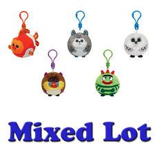 TY Beanie Baby Ballz - Bulk Mixed Lot of 5 Random (Plastic Key Clip - fca9210d9