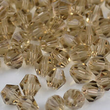 100pcs Gray exquisite 4MM 5301/glitter Crystals luster delicateness Bicone Loose