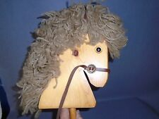 Vintage Child's Toy Riding Stick Hobby Horse Pony Wooden Head 40""