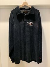Vintage US Suede Polo Association Long Sleeved Shirt Velour 90s Mens XXL EUC