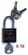 10x 40mm chiavi simili IMPERMEABILI OUTDOOR Lucchetto stesso tasto per tutti i lock HEAVY DUTY