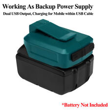 For Makita  LXT 18 V 14.4 V Tool Battery Device Dual USB Charger Adapter ADP05