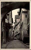 Riquewihr Haut Rhin Frankreich Elsass Alsace ~1930 Cour des Juifs Straßenpartie