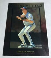 1996 UPPER DECK DEFENSIVE GEMS #137 GREG MADDUX Atlanta Braves Hard_8s_Magic