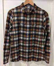 New listing Ibex Women's Wool-blend Taos Plaid Shirt Size Small Brown Black Cream