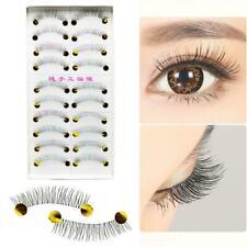 10 Pairs Natural Long Black Fake False Handmade Eyelashes Eye Lashes Makeup C4D6