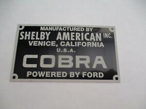 Nameplate Shelby Cobra AC