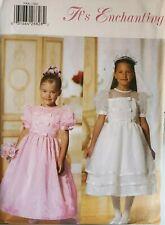Butterick It's Enchanting pattern 5900 Girls' Lined Dress, Veil sz 2,3,4,5 uncut