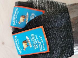 2 Paar Wollsocken Plüshsohle 43/46 Schafwolle
