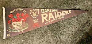 "Vintage 30"" 1977 Oakland Raiders Super Bowl XI Pasadena California Super Rare"