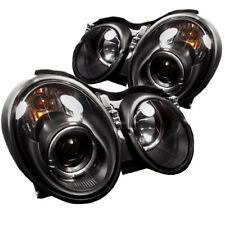 Mercedes Benz 98-02 CLK Black DRL Dual Halo LED Projector Headlights Lamp