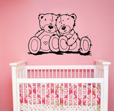 Cute Teddy Bears Wall Sticker Cartoon Animal Vinyl Decal Art Baby Room Decor tb6