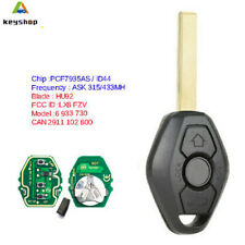 EWS Replacement Remote Key Fob 315/433MHz ID44 for BMW 3 5 7 E38 E39 E46 HU92