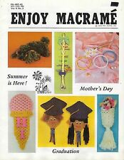 Enjoy Macrame May/June 1980 Vol. 4 No. 3 Newsletter Organizer, Jewelry Patterns