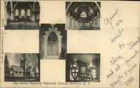 Roxbury NY Multi-View Church c1910 Postcard