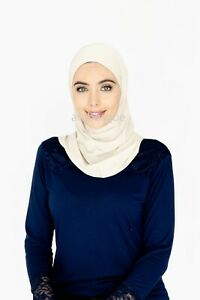 Two Piece Amira Hijab - Adult size - Smooth Lycra (Made in Dubai)