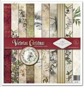 """11.8"""" x 12.1"""" scrapbooking cardstock paperpad Victorian Christmas 11 sheets"""