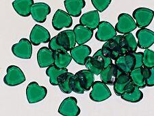 10pc Vintage Crystal SWAROVSKI Heart lot Rhinestones GN unfoiled no hole 10mm