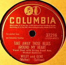 Wiley Walker & Gene Sullivan Take Away Those Blues 78 NM Hillbilly Kansas City