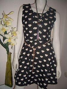 Kleid Tunika Grösse L schwarz mit aktuellem Herzchen- Design