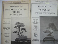 Lot of 2 Bonsai Japan Dwarf Trees Botany Harden 1959 Illustrated Techniques