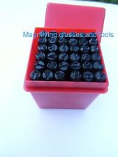36 number letter metal punch stamp set 5mm NEW BOXED