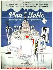 PLAN DE TABLE Affiche Cinéma / Movie Poster DECORATION MARIAGE / DUBOSC