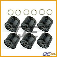 Set of 6 Genuine Oil Filters 15208AA031 & 6 Crush Washer For Subaru 6 Cyl