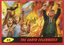 2017 TOPPS MARS ATTACKS RED #/99 THE EARTH CELEBRATES #52