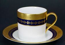 Minton Imperial Gold-Cobalt Demitasse Cup and Saucer