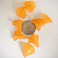 20 pcs Gorgeous Marigold Orange 20mm Med Detailed Trumpet Flower Acrylic Bead