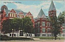 High School #1 and #2 at 112 West Main Street in Newark, Ohio - Early 1900s View