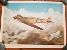 Aviation Print: Flying Supermarine Spitfire during Wwii, by Artist Alan Hindle