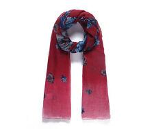 Ladies Red Floral Print Fashion Scarf / Shawl / Sarong / Wrap