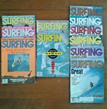 Lot of 11 Surfing Magazines Collectible Back Issues Surfing Beach 1990 1991 1992