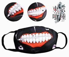 Tokyo Ghoul Kaneki Ken Cotton Mask w/Mouth Zipper for Halloween Anime Cosplay