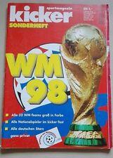 KICKER SONDERHEFT FUSSBALL WM France 98 Weltmeisterschaft World Cup 98 FIFA WM98