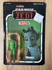 Vintage Kenner Star Wars ROTJ Greedo 77-Back MOC ~ Made in Spain