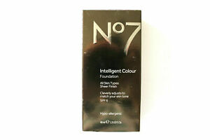 No7 Intelligent Colour Foundation All Skin Types 40ml - Please Choose Shade:
