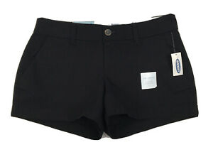 """NWT! Old Navy 3.5"""" Low-Rise Everyday Black Chino Shorts Women's Size 0"""