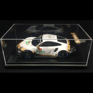 1/12 Spark Porsche 911 RSR #91 WEC SuperSeason 2018/2019 w/ Display Case