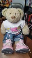 Build a Bear Chantilly Princess in Training stuffed bear doll w/Sketchers