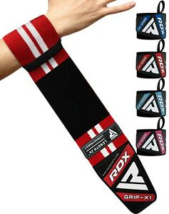 RDX Weight Lifting Wrist Strap Elasticated Gym Support Wraps Bodybuilding Grip